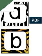 Animal Print Letters