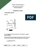 Physics Practical Report 1