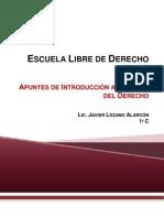 APUNTES DE INTRODUCCIÓN AL ESTUDIO DEL DERECHO