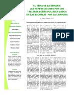Tema de la Semana - Repercusiones sobre talleres políticos de La Campora