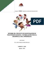 Proyecto de investigación en psicoterapia infantil y estimulación para el desarrollo del aprendizaje