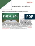 Possiveis temas para Redação Enem 2012, assuntos polemicos