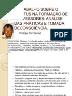 Perrenoud Habitus Na Formacao de Professores
