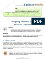 Designing Worship with Positive Tensions