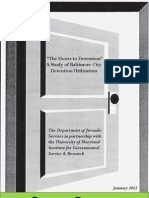 The Doors to Detention - A Study of Baltimore City Detention Utilization (2012)