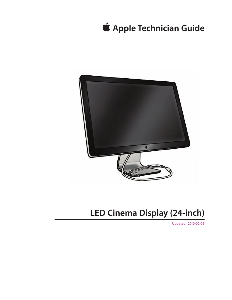Apple Technician Guide for LED Cinema Display (24-Inch) | Usb | Electrical  Connector