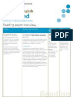 CAE Reading Paper Overview