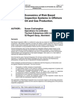 Economics of Risk Based Inspection Systems in Offshore Oil and Gas Production