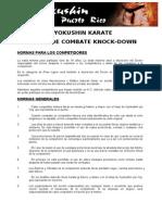 Reglas Para Kyokushin Knock-Down Kumite