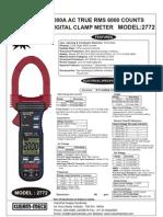 Digital Clampmeter 2000A AC TRMS KM2772