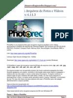 Recuperando Arquivos de Fotos e Vídeos com PhotoRec 6.11.3
