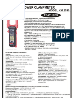 Digital Portable Power Clamp Kusam Meco KM 2740