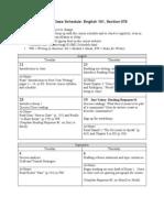 Fall 2012 Class Schedule