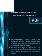 Imperfections in the Atomic and Ionic Arrangement