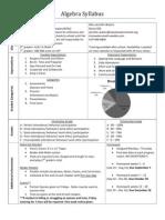 algebra syllabus 2012-2013