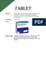 Bentuk Sediaan Farmasi Tablet
