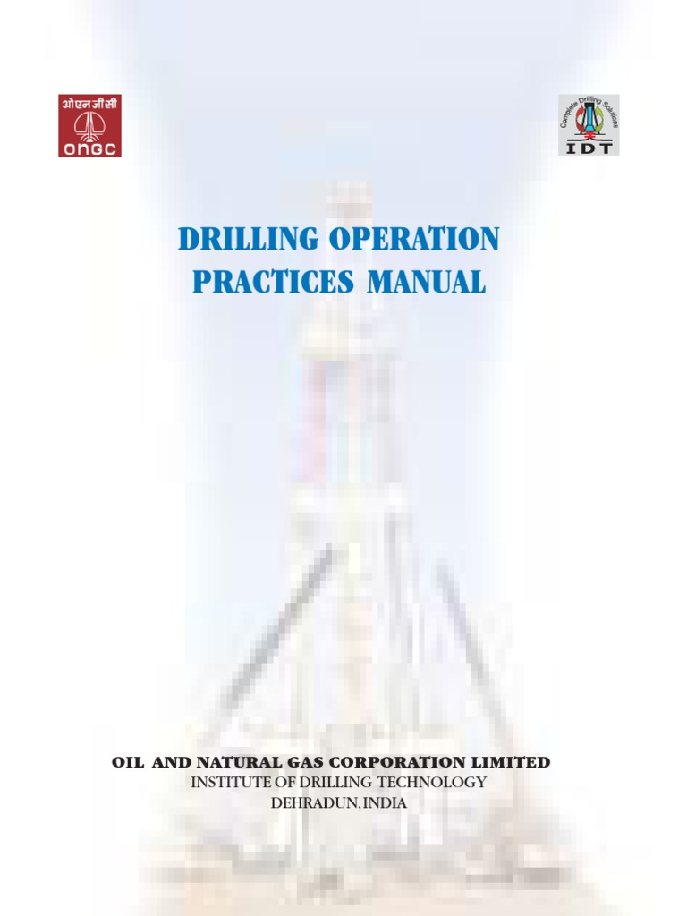 ONGC - Drilling Operation Practices Manual.-2007 | Drilling Rig | Crane  (Machine)