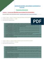 Des révisions du nouveau programme de SES de première ES pour préparer sereinement sa TES