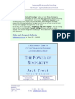 PowerOfSimplicity Jack Trout (Summary)