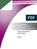 Programas de Artes en Educación Básica 2011