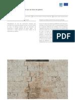 Fissures murs en maçonnerie de moellons et réparations