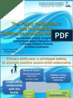 Ruolo Pediatra di Famiglia Psicologia Pediatrica