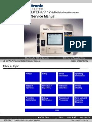 Medtronic LIFEPAK-12 Service Manual | Manufactured Goods
