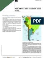 l Attacco Alla Repubblica Dell Ecuador Ecco Il Perche Di Londra