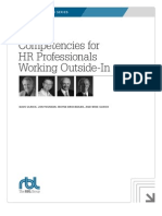 Competencies for HR Professionals Working Outside-In