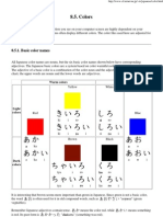 Names of Colors- Japanese