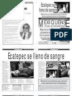 Versión impresa del periódico El mexiquense 20 agosto 2012