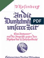 Rosenberg, Alfred - An Die Dunkelmaenner Unserer Zeit (10. Auflage 1935, 116 S., Scan, Fraktur)