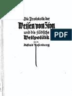 Rosenberg, Alfred - Die Protokolle Der Weisen Von Zion Und Die Juedische Weltpolitik (1923, 163 S., Scan, Fraktur)