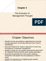 Chapter 2 - The Evolution of Management