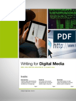 Writing for Digital Media, Fall 2012