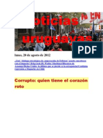 Noticias Uruguayas Lunes 20 de Agosto Del 2013