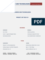 Numero Uno Technologies Final Year Project List for Computer and It Student