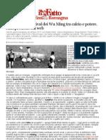 Futbologia, Il Festival Dei Wu Ming Tra Calcio e Potere