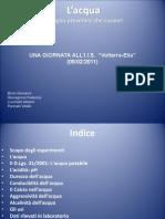 Presentazione NOI E L'ACQUA Gruppo 3