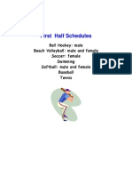 NL Summer Games Schedule