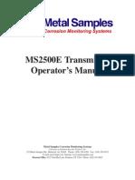 Ms 2500 e Manual