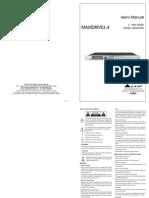 Maxidrive3-4 Alto User Manual