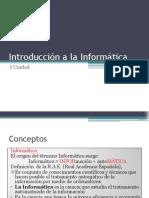 I.-Introducción a la Informática