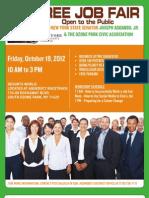 NYS Senator Addabbo Job Fair October 19, 2012 at Resorts World