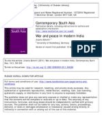 "Srinath Raghavan ""War and Peace in Modern India"" Review"