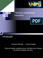 Técnicas anestésicas para maxila