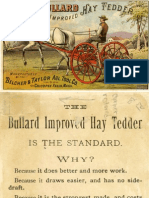 The Bullard Improved Hay Tedder Advertising Card