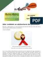 Aids realidade na adolescência dos paraibanos