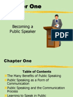 Public Speaking and the Communication Process