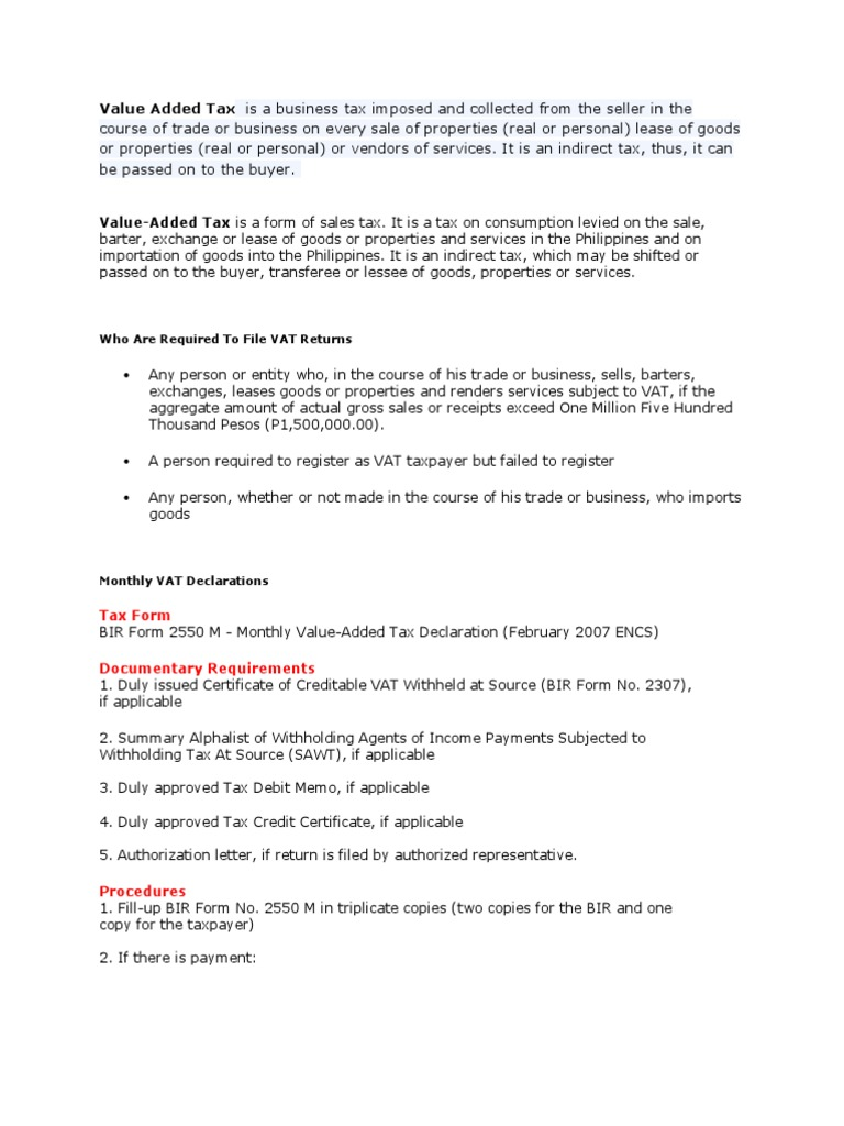 Value Added Tax | Value Added Tax | Invoice